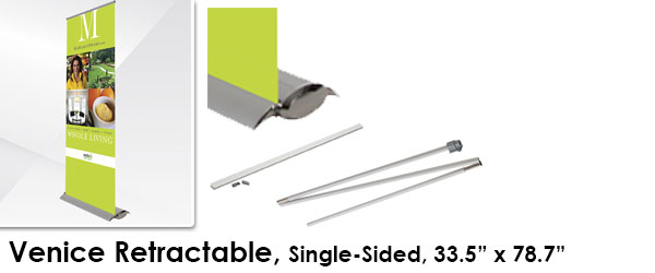"Wide Base Single-Sided Retractable (33.5"" by 78.7"")"