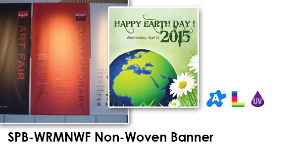 "22 Mil 36"" x 60' Matte Polyester Non-Woven Banner"