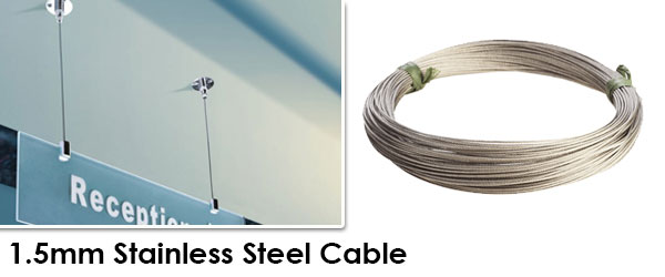 1.5mm Stainless Steel Cable (Sold by Ft.)