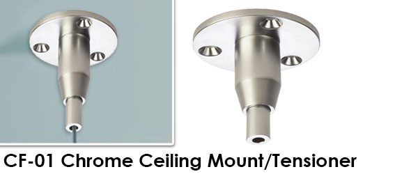 Chrome Finish Ceiling Mount and Tensioner