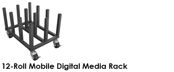12 Roll Mobile Digital Media Rack